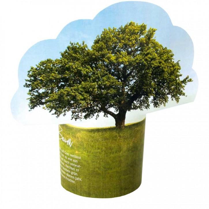 """Gruß-Aufsteller """"Wie ein Baum"""""""