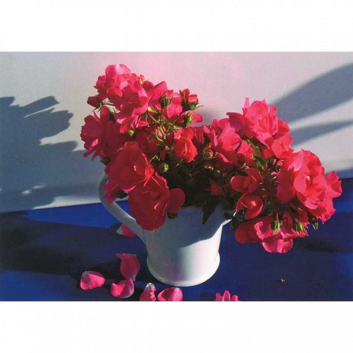 Doppelkarte - rote Rosen