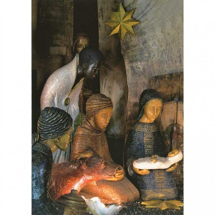 Doppelkarte - Krippe Weihnachten