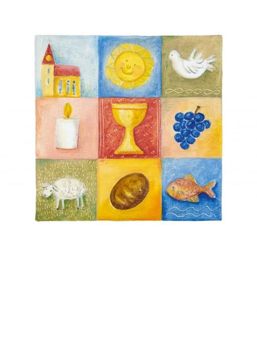 Urkunde/Gedenkblatt  Christliche Symbole