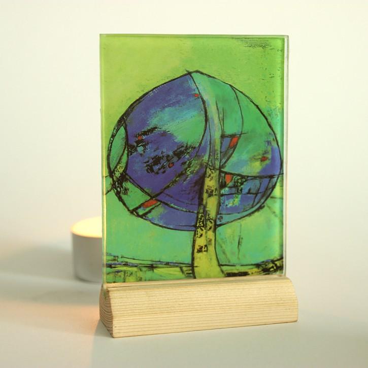 Lichtsysmbol aus Glas: Lebensbaum