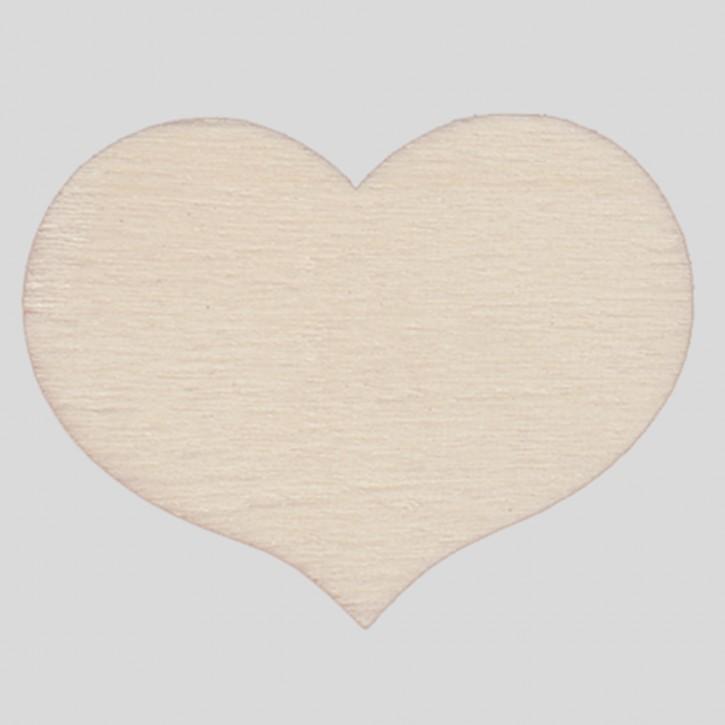 Holzsymbol: Herz