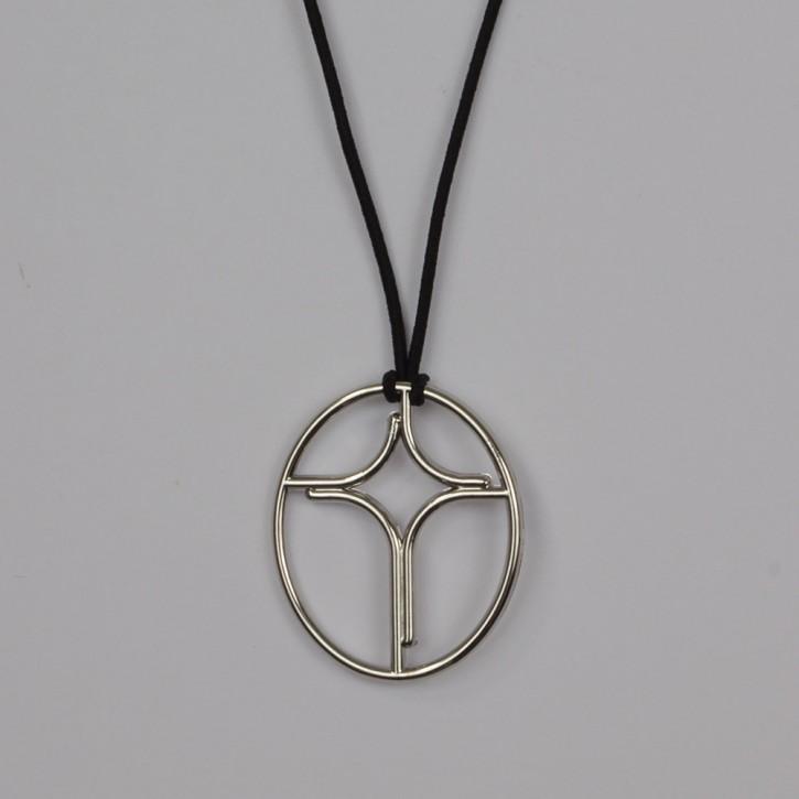 Anhänger Profil-Kreuz oval