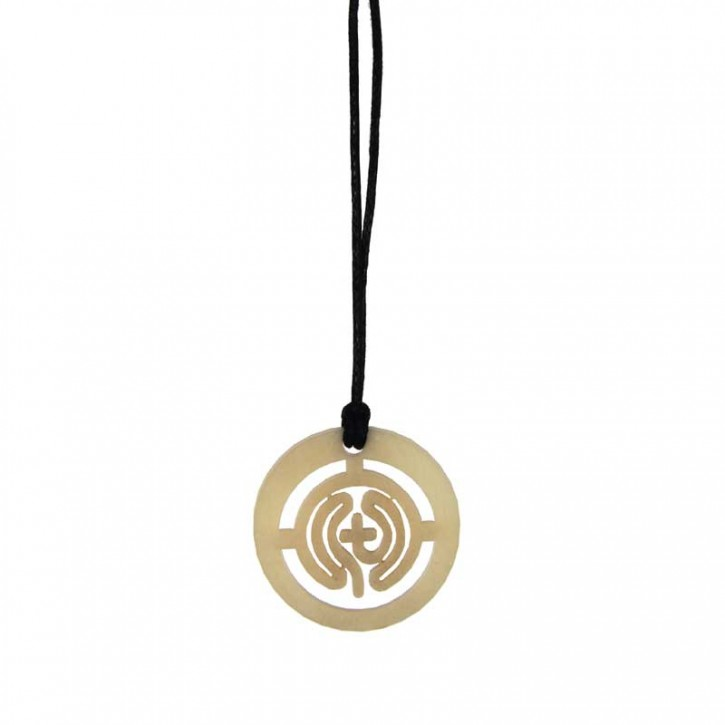 Anhänger Tagua Labyrinth