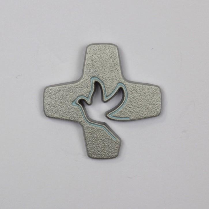 Pin Tauben-Kreuz diamant