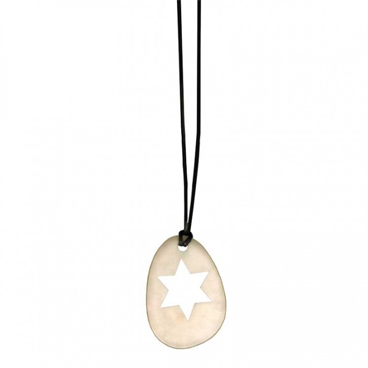 Weihnachtsanhänger Tagua Oval mit Stern