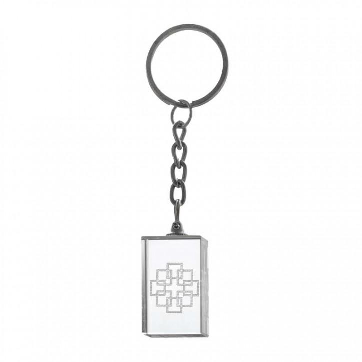 Kristall-Schlüsselanhänger Facettenkreuz