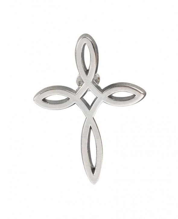 Pin Ichthys-Kreuz (silber)