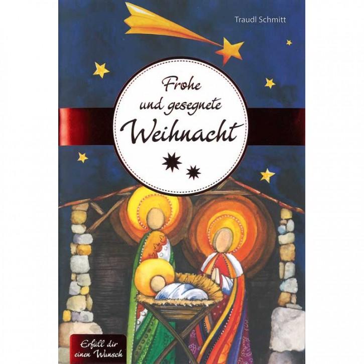 """Grußkarte als Geschenkheft """"Frohe und gesegnete Weihnacht"""""""