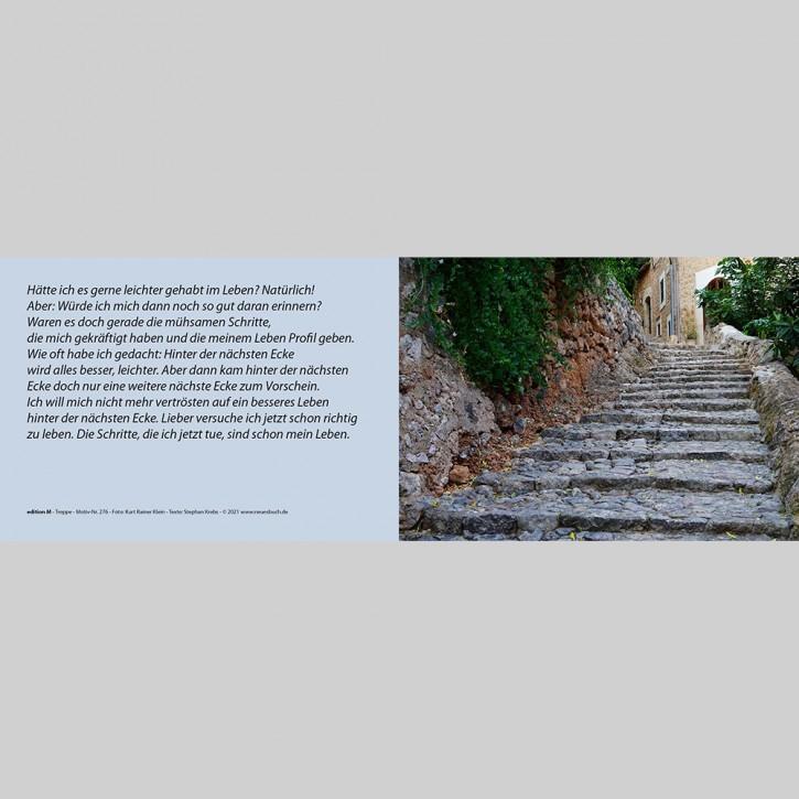 Faltkarte Treppe mit Innentext 276+