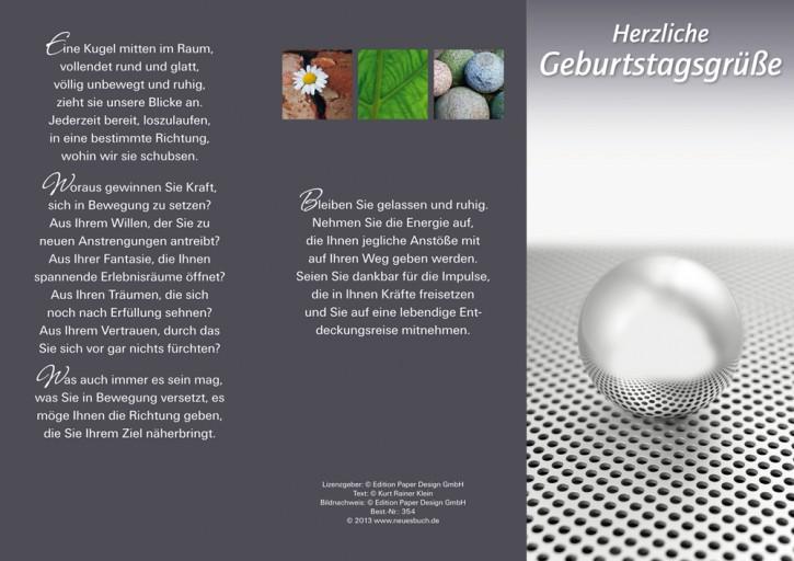 Leporellokarte: Herzliche Geburtstagsgrüße