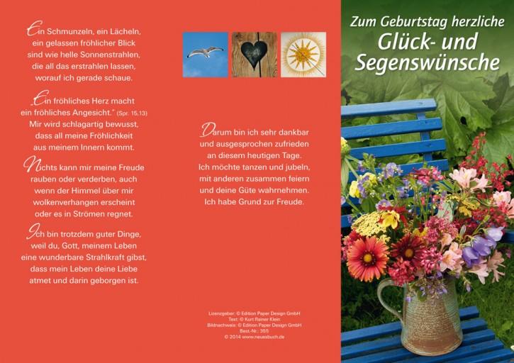 Leporellokarte: Zum Geburtstag herzliche Glück- und Segenswünsche