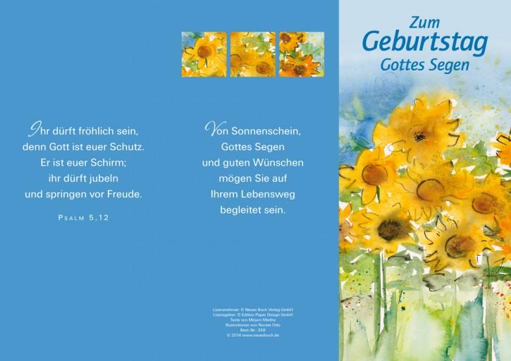 Leporellokarte: Zum Geburtstag Gottes Segen