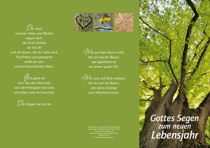 Leporellokarte:  Gottes Segen zum neuen Lebensjahr