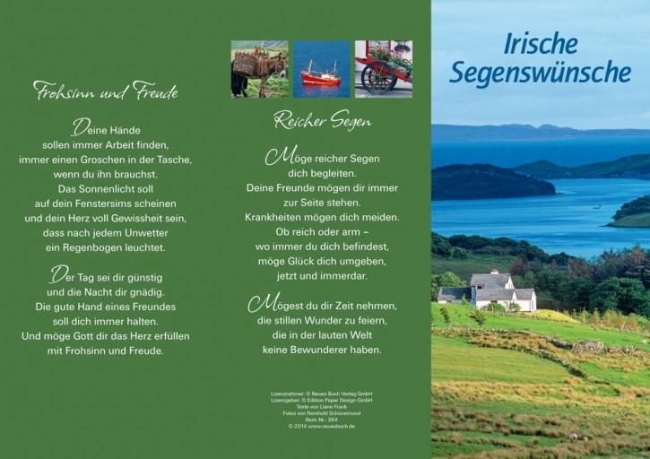 Leporellokarte:  Irische Segenswünsche