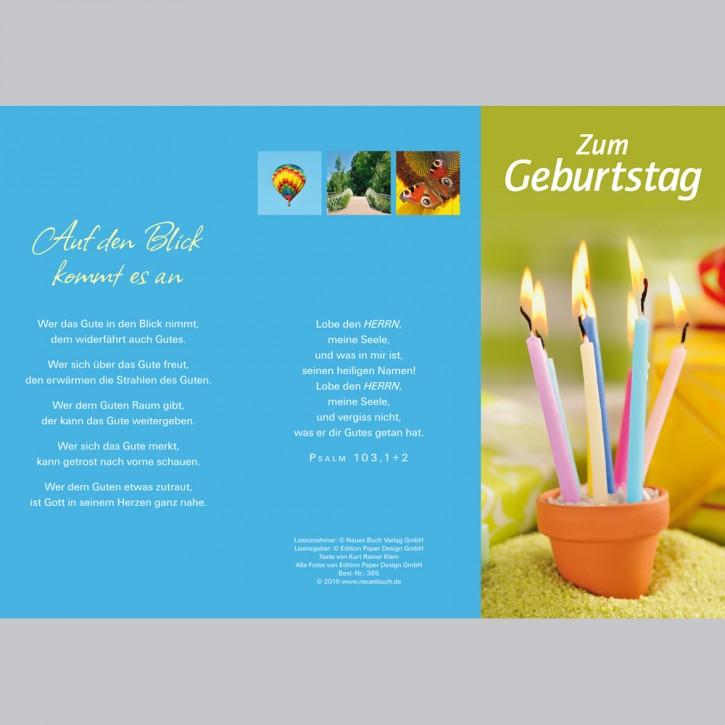 Leporellokarte: Zum Geburtstag