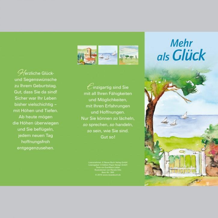 Leporellokarte: Mehr als Glück