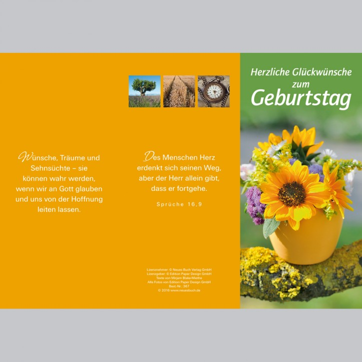 Leporellokarte: Herzliche Glückwünsche zum Geburtstag
