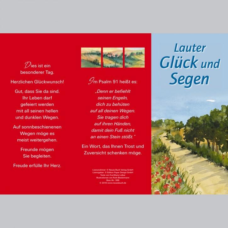 Leporellokarte: Lauter Glück und Segen