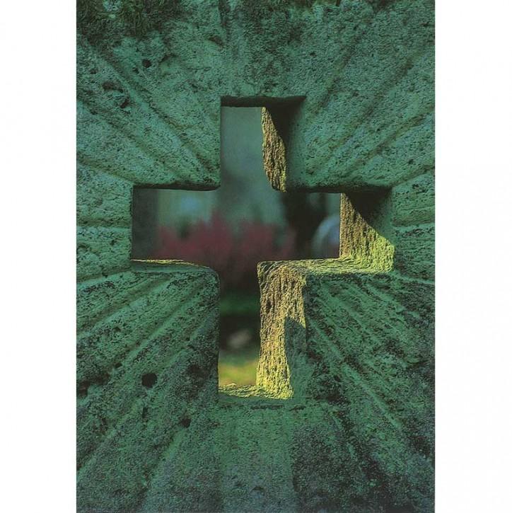 Doppelkarte - Stein mit Kreuz