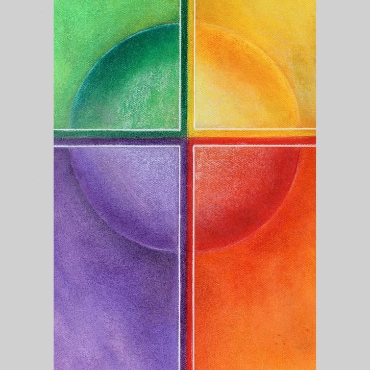 Symbol-Sticker Kreuz Lebensfarben