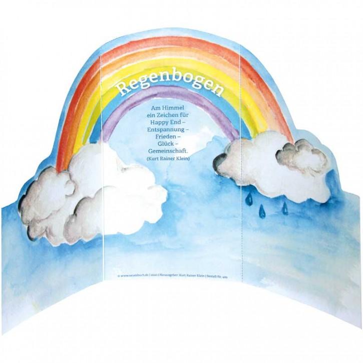 """Gruß-Aufsteller """"Regenbogen"""""""