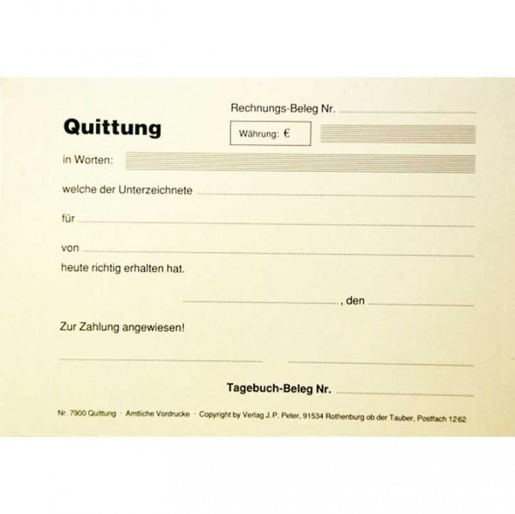 Quittungssblock
