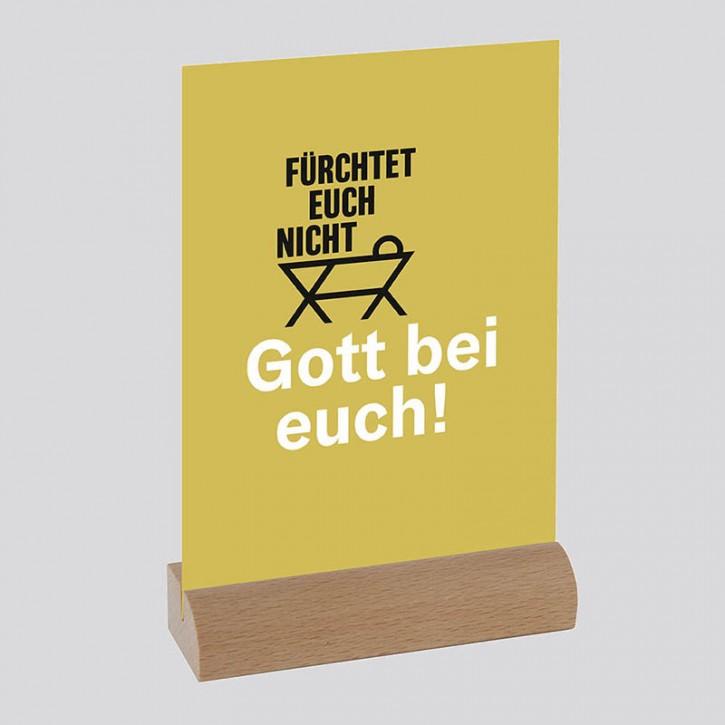 """Transparente Postkarte  """"FÜRCHTET EUCH NICHT"""""""