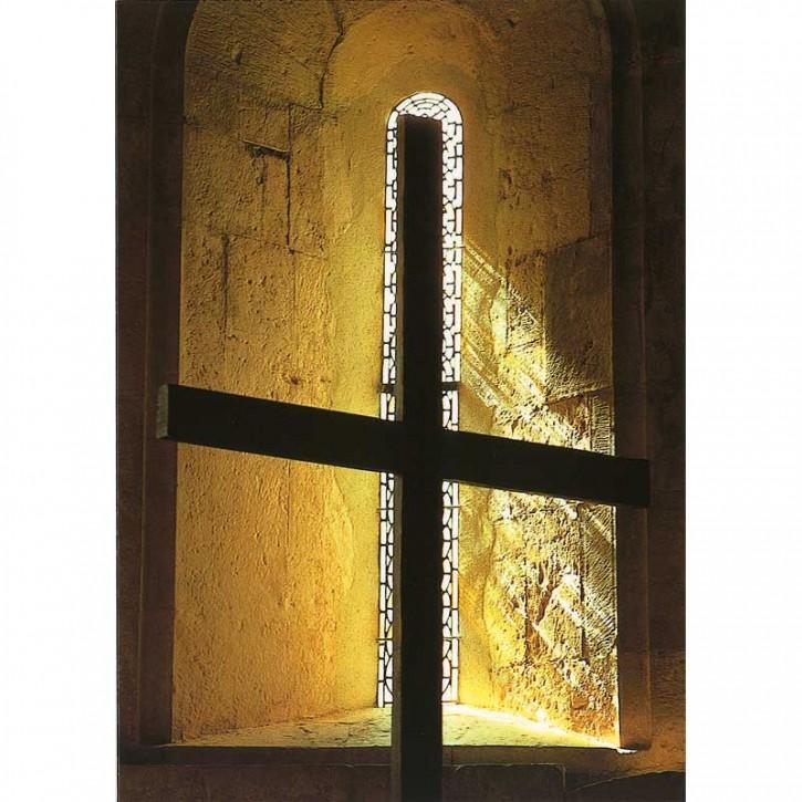Doppelkarte - Kreuz im Licht