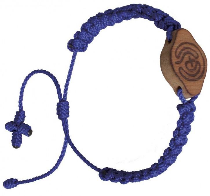 Armband: Labyrinth (blau)