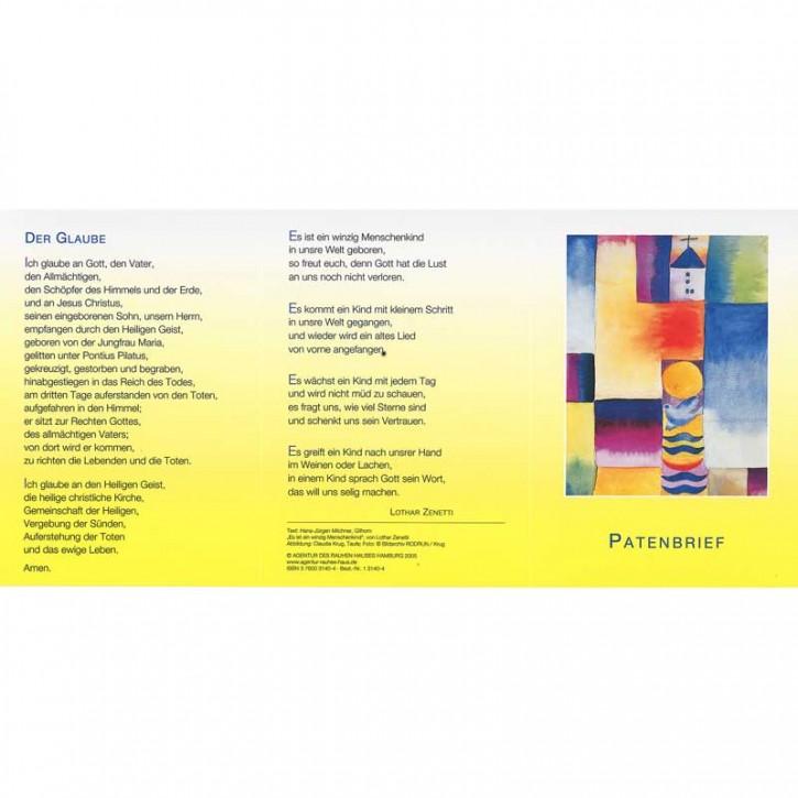 Patenbrief Motiv Krug (10 St.)