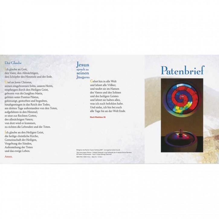 Patenbrief Motiv Hundertwasser (10 St.)