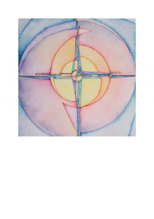 Urkunde/Gedenkblatt  Auge mit Kreuz