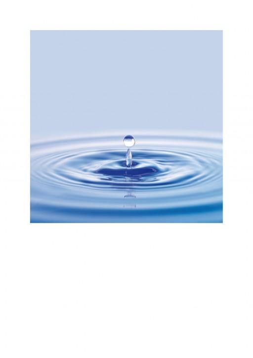 Urkunde/Gedenkblatt  Wassertropfen