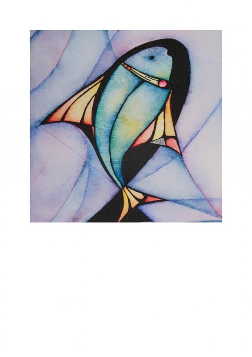 Urkunde/Gedenkblatt Fisch