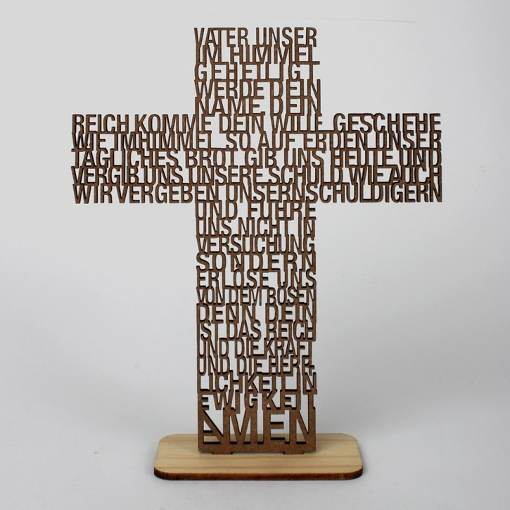 Text-Kreuz Vater unser