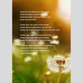 Voller Leben - Herzliche Segenswünsche